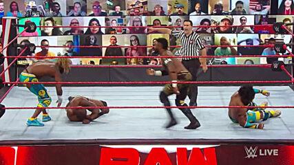 The New Day vs. Shelton Benjamin & Cedric Alexander – Raw Tag Team Championship Match: Raw, Nov. 23, 2020