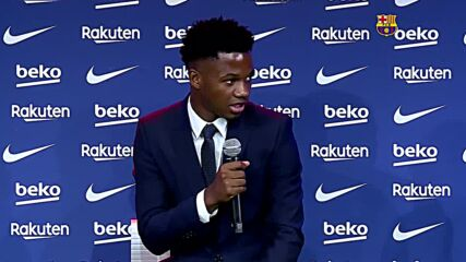 Spain: 'My dream was to grow and be able to succeed here' - Ansu Fati after renewing with FC Barcelona