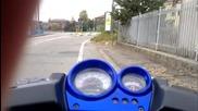 .__yamaha Aerox Stage 6 Streetrace wheelie__. (in due)