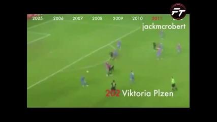 Всички 234 гола на Меси за Барселона