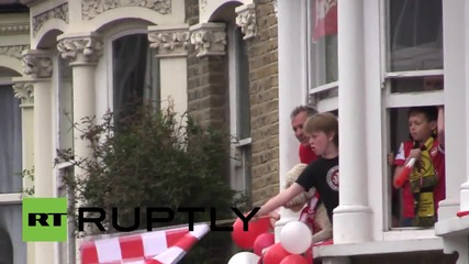 UK: Arsenal players revel in FA Cup victory, taking home trophy for TWELTH time