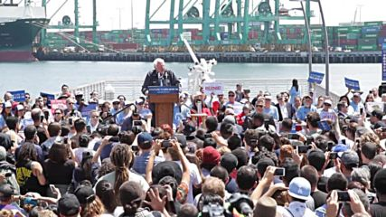 USA: Sanders vows to create 13 million well-paid jobs at San Pedro rally