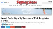 Banks Lights Up 'Letterman' With 'Beggin for Thread'