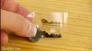 Как да направим резервен ключ от капачка на консерва