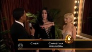 Christina Aguilera and Chers - 67th Golden Globes After Party Interview