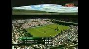 Wimbledon - Federer - Hrbaty - 5:2 Втори Сет