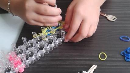 калъф за ключ от ластици 2част