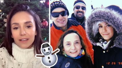 Нина Добрев заведе семейството на Витоша, фенове я чакат пред дома й