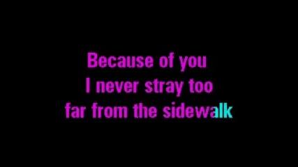 Kelly - Because Of You (karaoke).flv