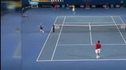 Страхотно хващане на тенис топка..