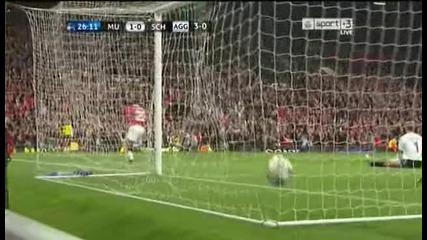 Манчестър Юнайтед-шалке 1:0 гол на Валенсия