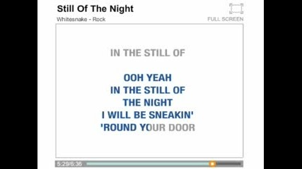 Withesnake - Still Of The Night (karaoke)