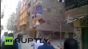 Срутване на жилищен блок в Кайро