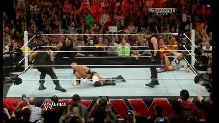 Ортън, Кейн и Батиста пребиват Браян и улесняват Играта ноо.. / Първична сила 07.04.14 г.
