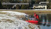 "Пожарникар спаси елен, ""заклещен"" в езеро"