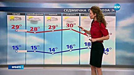 Прогноза за времето (14.09.2016 - сутрешна)