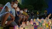 Japan: Hundreds honour Nagasaki victims with candle-lit lanterns