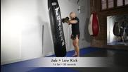 Муай тай / кикбокс тренировка 2- упражняване на ритници и юмруци, удари с ръце
