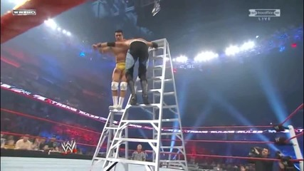 Double Knee Armbreaker off the Ladder