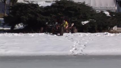 Неуспешен опит за дрифт върху замръзнало езеро