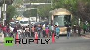Четирима полицаи ранени при сблъсъци с протестиращи в Мексико