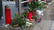 Цветя в памет на застреляните в Мюнхен