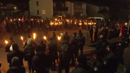 Germany: Far-right torch-lit vigil held in Wunsiedel