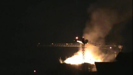 Пожар в центъра на София! 15.04.2014