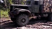 Руски камион в действие - Краз !