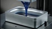 3d принтер създава предмети чрез светлина и кислород от разтопена пластмаса