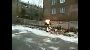Идиот Си Играе С Огъня или Огъня Си Играе С Него, Смях!