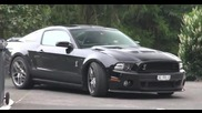 Ford Shelby Mustang Gt500 Svt - Engine Start up + Acceleration
