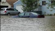 Тежки наводнения в Гленууд, Минесота 17.8.2014