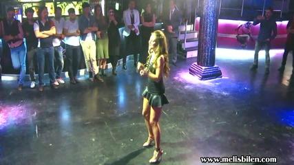 "Melis Bilen performing ""affettim Yine"" bachata song"