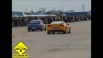 Corvette C6 vs Subaru Impreza Wrx Sti