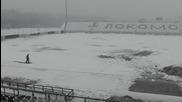 Стадионът ден преди Локо Пд - Ботев Пд