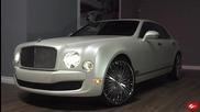 Matte White Bentley Mulsanne on Lexani Forged Wheels