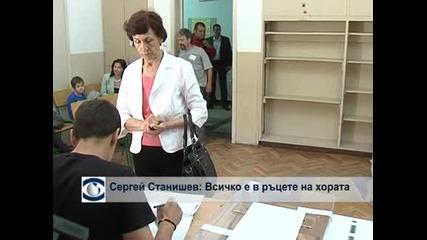Сергей Станишев призова хората да гласуват по съвест