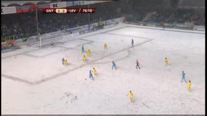 Гола на Гент срещу Левски
