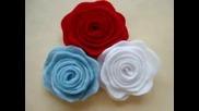 Как да си направим ефектни розички за декорация на блузи,шалове