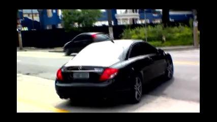 Бягство Неочакван burnout на Mercedes Cl63 Amg
