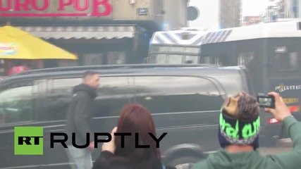 Netherlands: AMSTERDAMAGE! Ajax and Fenerbache fans clash ahead of match