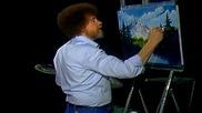S12 Радостта на живописта с Bob Ross E02 - планинско отражение ღобучение в рисуване, живописღ