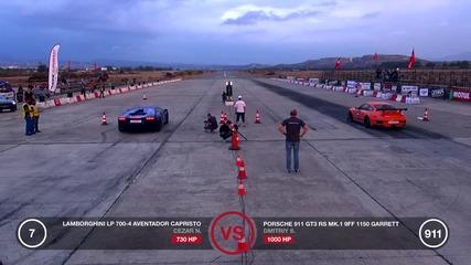 Кое е по бързо? Lamborghini Aventador, Bmw M6 Pp-performance или Porsche Gt3 Rs 9ff