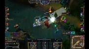 League of Legends - 5vs5 / Quadra Kill Kog'maw
