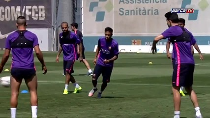Тренировката днес 3.06.2015 /fc Barcelona training session- preparations continue for Berlín