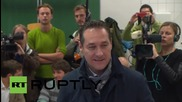Austria: FPO candidate Strache casts vote as far-right party makes gains in Vienna
