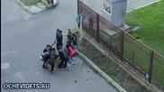 Руски войник развали крими сцена от заснемащ се филм