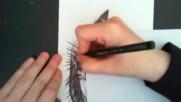 Speed drawing- Eye - Ballpoint pen