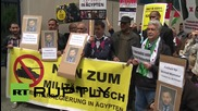 Germany: Protesters demand Germany release Al Jazeera reporter Ahmed Mansour